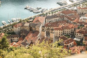 tile roofs in the town of Montenegro