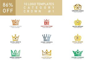 10 Logo Set - Crown