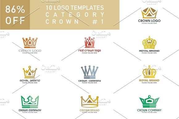 10 Logo Set Crown