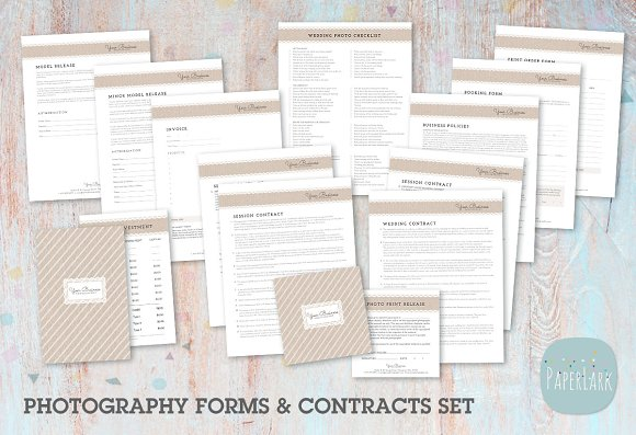 NG010 Photography Contracts Forms