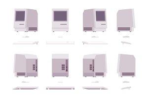 Set of old monoblock PC