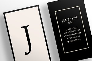 The Simple Nude - Business Card