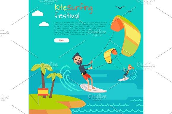 Kitesurfing Festival Banner Style Of Kiteboarding