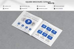 Square Brochure / Catalog Mock-Up