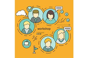 Workshop Concept Vector Illustration In Flat Style