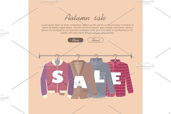 Autumn Sale Vector Concept In Flat Design