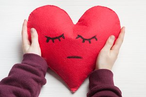 heart cushion craft