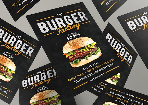 Burger Factory menu in Flyer Templates - product preview 2