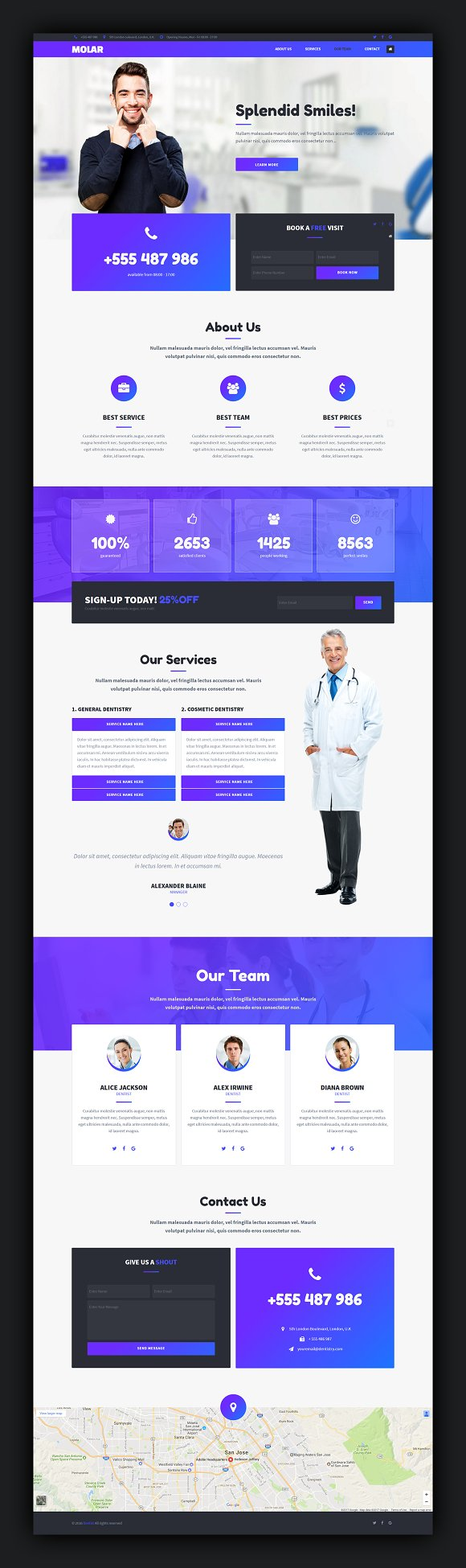Molar Muse Landing Page Template