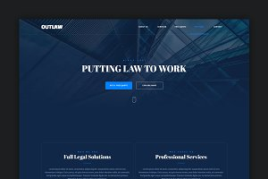 Outlaw - Muse Landing Page Template
