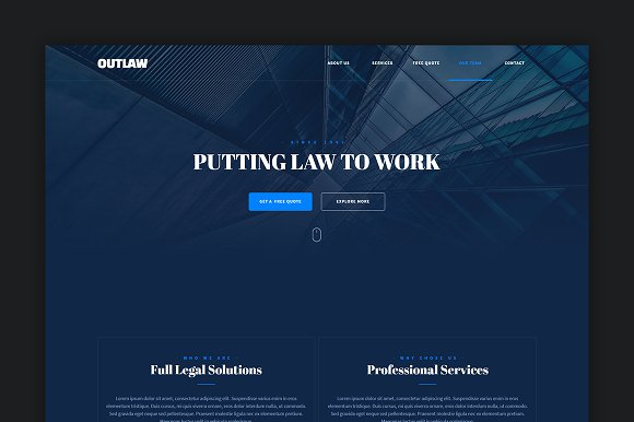 Outlaw Muse Landing Page Template