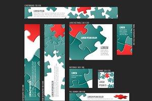 Vector web banner templates