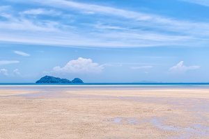 Low tide in the Gulf of Thailand