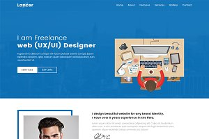 Lancer-Creative html portfolio
