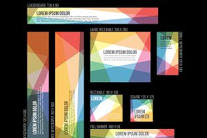 Vector web banner templates