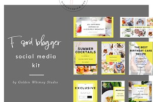 Food Blogger Social Media Kit