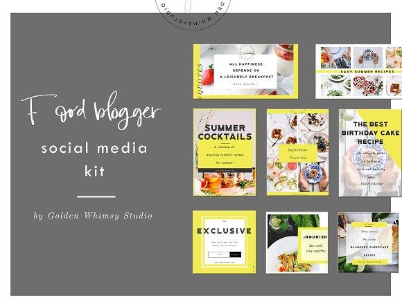 Food Blogger Social Media Kit