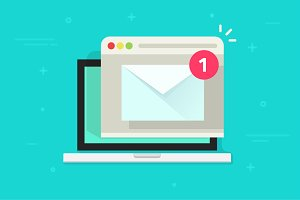 New Email Mail Notification Vector