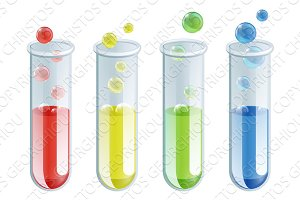 Cartoon Test Tubes