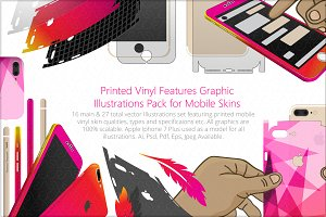 Vinyl Skin Features Graphic Pack
