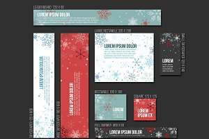 Vector christmas banner templates