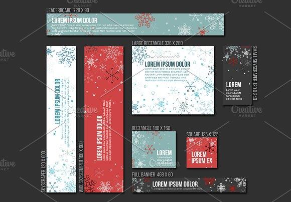 Vector Christmas Banner Templates