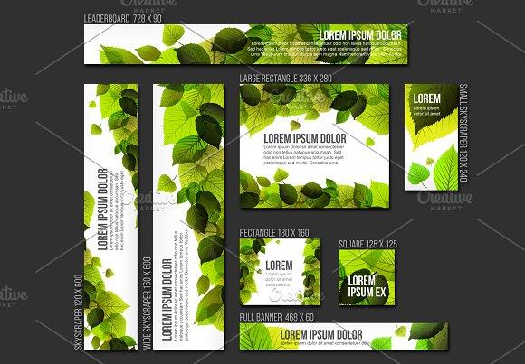 Vector Spring Web Banner Templates