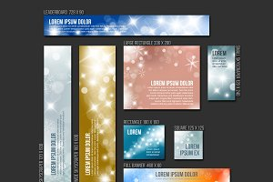 Christmas web banner templates