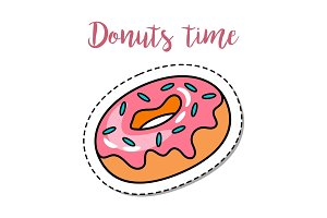 Fashion patch element donut