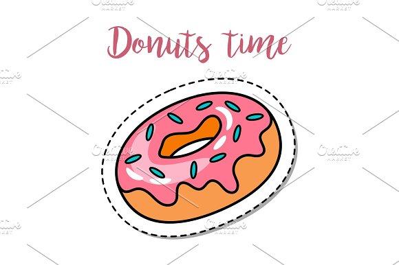 Fashion Patch Element Donut