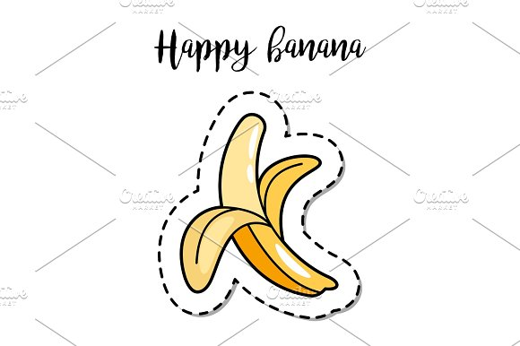 Fashion Patch Element Banana
