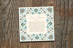 Vintage Square Invitation Card