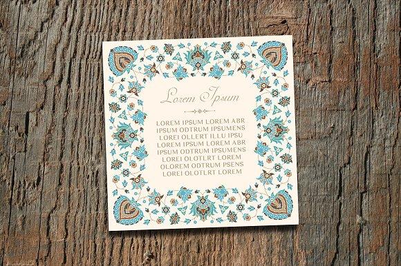 Vintage Square Invitation Card