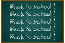 Back to school concept text