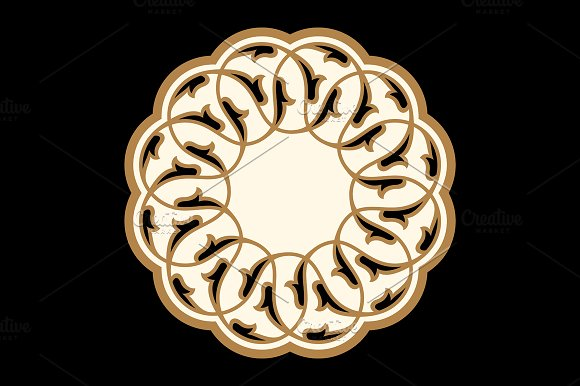 Traditional Arabic Floral Ornament