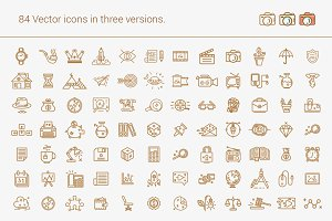 Set of line Icons for all occasions.