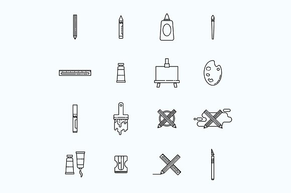 Arts And Crafts Icon Bundle