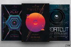 Electro Sessions Flyer Bundle