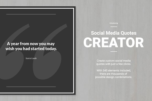Social Media Quote Creator in Social Media Templates - product preview 1