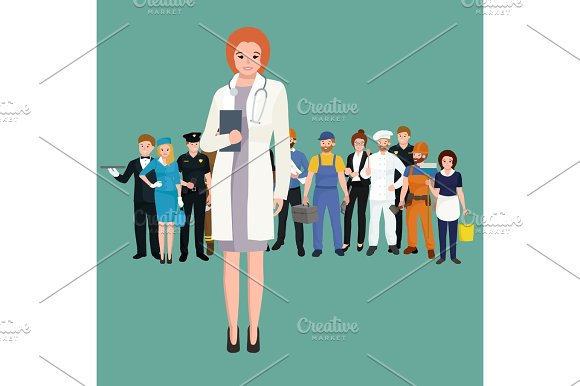 Woman Doctor In White Lab Coat Researcher With Folder