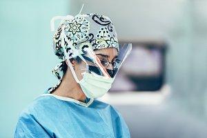 Portrait of a Surgeon Woman.