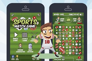Sports Match 3 Game Assets