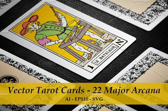 Vector Tarot Cards 22 Major Arcana