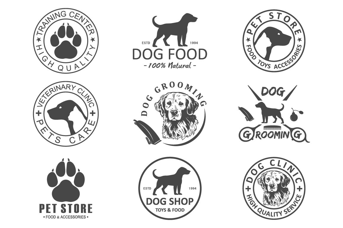 dog logo and icons for dog club ~ Graphics ~ Creative Market
