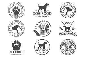 dog logo and icons for dog club