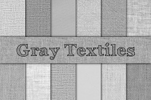 Gray Burlap, Linen & Canvas Textures