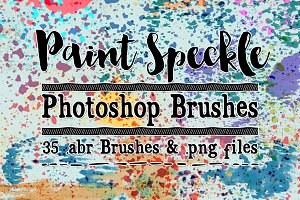 Paint Speckles 35 Photoshop Brushes