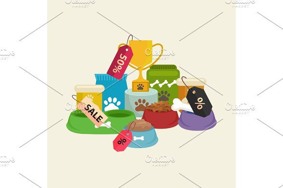 Pet Shop Dog Goods And Supplies Store Products For Care