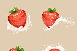Cream Milk Strawberry