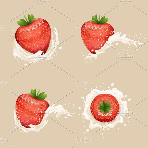 Cream Milk Strawberry